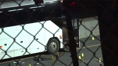Bus stabbing suspect shot dead by police