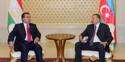 President Ilham Aliyev and President of Tajikistan held  a one-one meeting