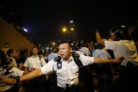 Hong Kong police arrest 45 protesters