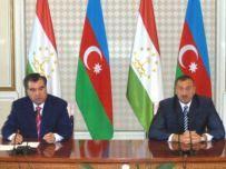 Azerbaijani and Tajik Presidents made statements for the press