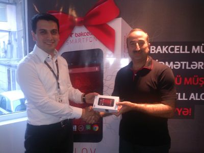 Subscribers were presented with gifts at the new Customer Service Center of Bakcell