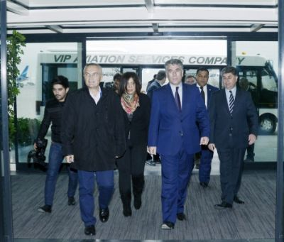 Chairman of Albanian Parliament arrived in Azerbaijan for an official visit
