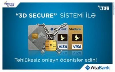 "AtaBank implements ""3D Secure"" service actively"