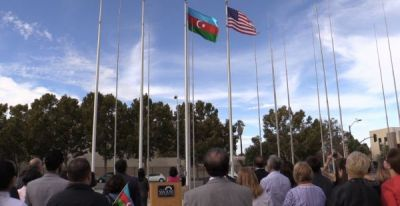 Azerbaijan`s flag raised outside San José City Hall
