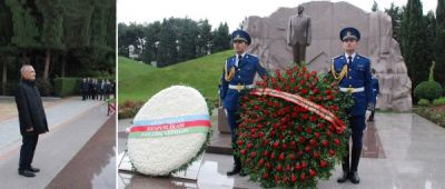 Albanian Parliament Speaker pays respect to national leader Heydar Aliyev and Azerbaijani heroes