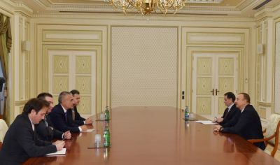 President Ilham Aliyev received Speaker of the Parliament of Albania