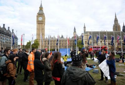 UK protesters to continue occupying Parliament Square