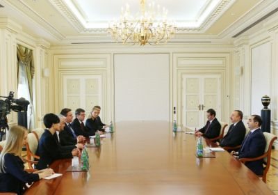 President Ilham Aliyev received a delegation led by the Minister of Foreign Affairs of Lithuania