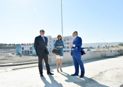 President Ilham Aliyev reviewed the progress of construction at the Skeet Shooting Complex