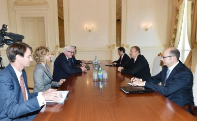 President Ilham Aliyev received the FM of Germany