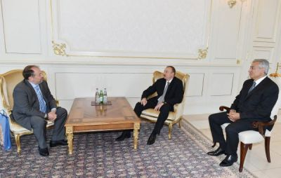 President Ilham Aliyev received the President of the European Shooting Confederation and Russian Shooting Union
