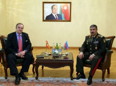 Zakir Hasanov meets Spanish Charge d`Affaires