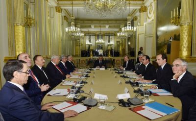 Azerbaijani and Armenian Presidents meet in Paris