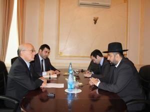 Mubariz Gurbanli meets Rabbi Shmuel Simantov