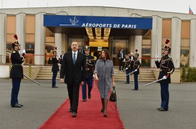 Azerbaijani President's working visit to France ended