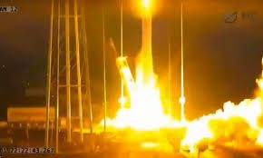 Rocket explodes and crashes after takeoff from Nasa base VIDEO