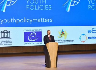 President Ilham Aliyev attended the official opening of the First Global Forum on Youth Policies