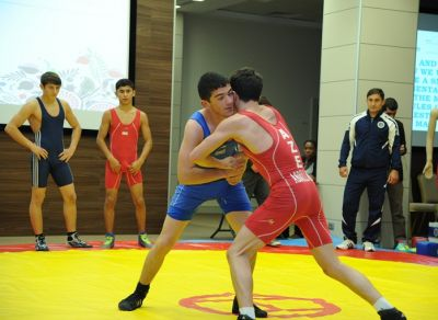 Baku 2015 European Games hosts Wrestling demonstration