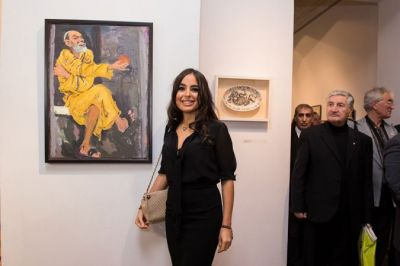 Leyla Aliyeva attends the inauguration of an exhibition