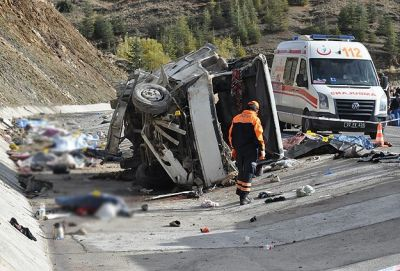 Bus accident in Turkey,  16 killed, 29 injured