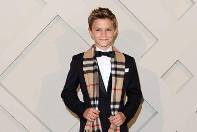 Romeo Beckham attends Burberry festive campaign launch
