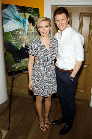 Scarlett Johansson glows as she makes her first major post-baby appearance