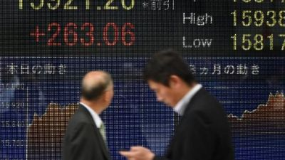 Asian stocks mostly down, Tokyo sees late rally