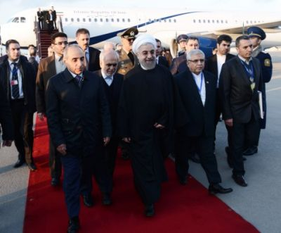 Iranian President arrived in Azerbaijan