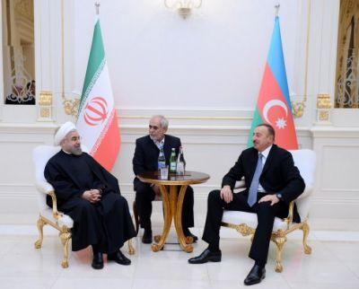 President Ilham Aliyev and President Hassan Rouhani met one-on-one