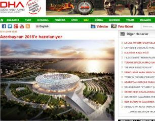 Turkish Press writes about preparation for Baku 2015 and presentation of the First European Games