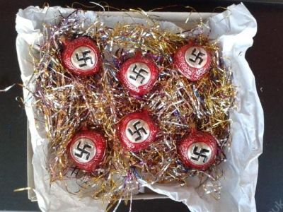 Nazi Christmas baubles are put up for sale on online marketplace