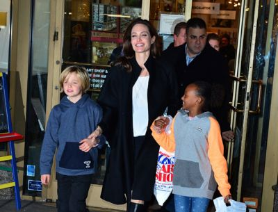 Angelina Jolie in Rome ahead of meeting the Pope