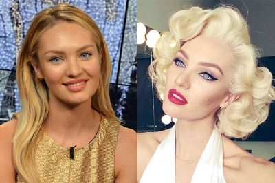 Candice Swanepoel reveals Marilyn Monroe transformation