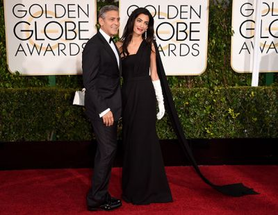 Amal Clooney makes stunning Golden Globes debut by George's side