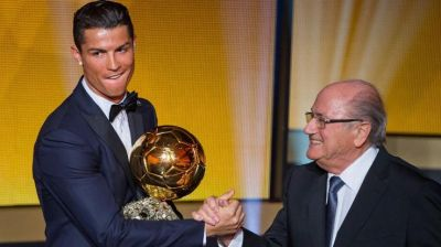 Cristiano Ronaldo wins Ballon d'Or for second straight year PHOTO