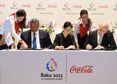 Baku 2015 European Games signs Coca-Cola as Official Partner