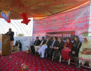 "Opening of the ""20th January Martyrs Spring"" built at the Heydar Aliyev Foundation's initiative in Pakistan takes place"