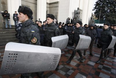 Explosion wounds 12 outside court building in Ukraine