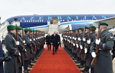 President Ilham Aliyev arrived in Germany on a working visit