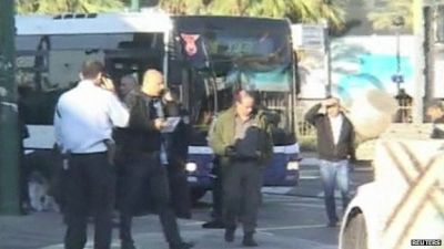 Police shoot man who stabbed passengers on Tel Aviv bus