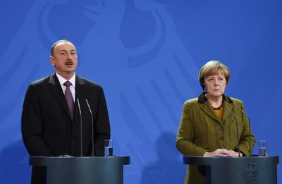 President Ilham Aliyev, German Chancellor Angela Merkel gave a press conference