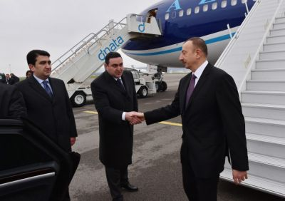 President Ilham Aliyev arrived in Switzerland on a working visit