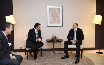 President Ilham Aliyev met the CEO of Airbus Group International in Davos