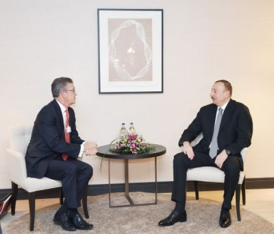 President Ilham Aliyev met the Chairman of Global Partnerships at Swiss Re AG