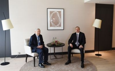 President Ilham Aliyev met founder of the Soros Foundation George Soros