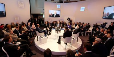 "Ilham Aliyev attended ""Regions in transformation: Eurasia"" session of the World Economic Forum in Davos"