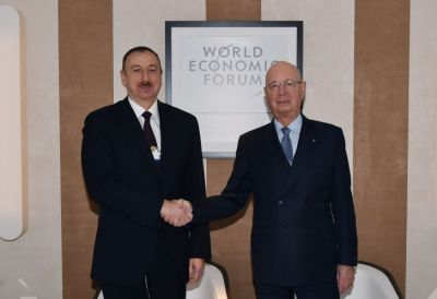 President Ilham Aliyev met Executive Chairman of the World Economic Forum Klaus Schwab