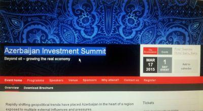 Baku to host Azerbaijan Investment Forum