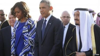 Obama visits Saudi Arabia's new King Salman