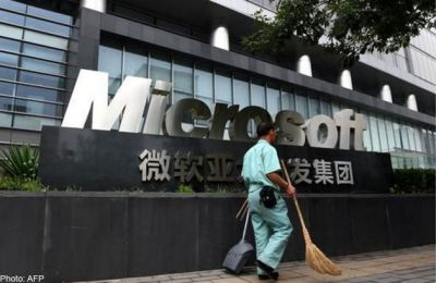 Microsoft stock punished